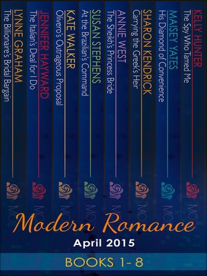 cover image of Modern Romance April 2015 Books 1-8